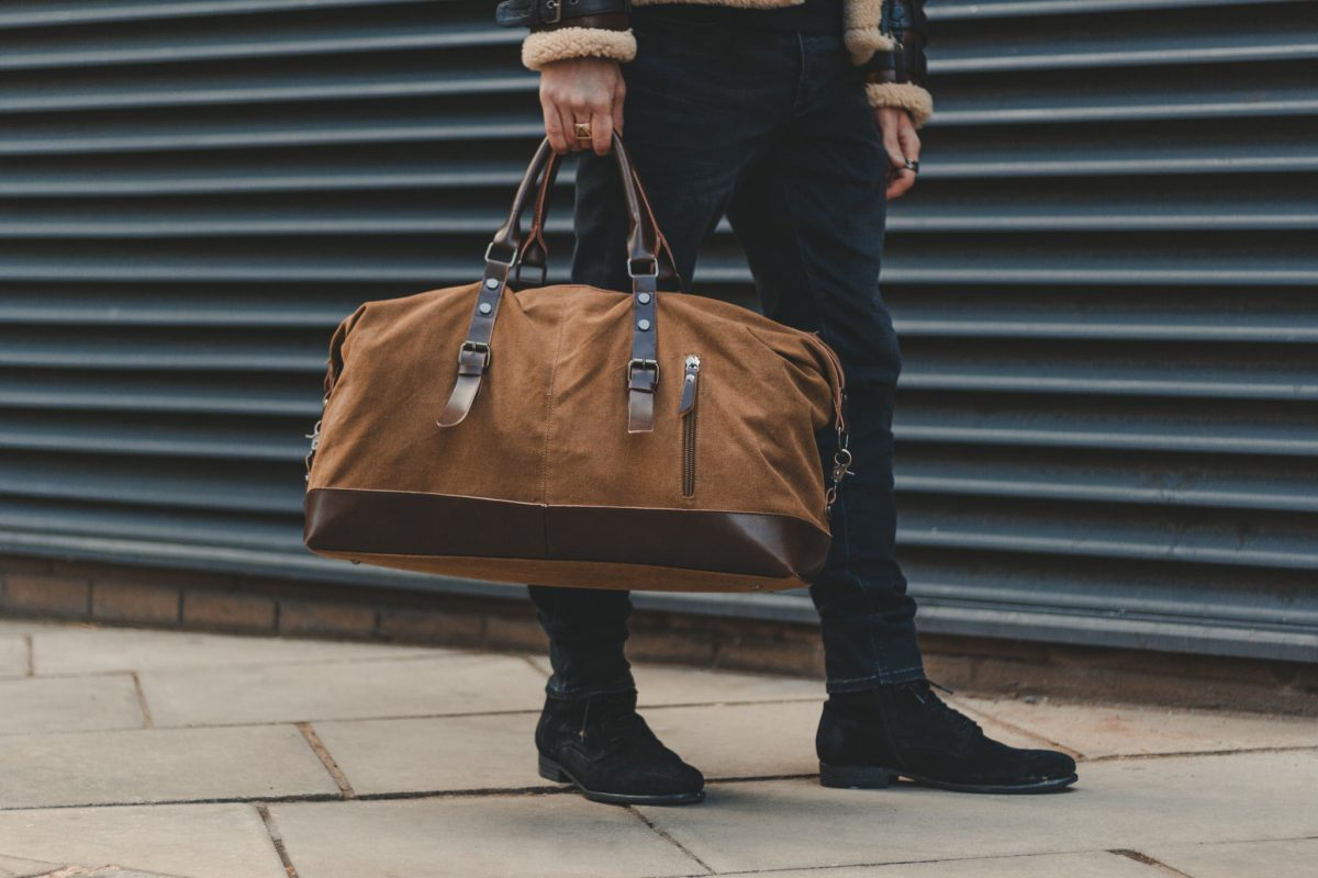 Oldfield Ashdown Sandstone Cotton Canvas & Man Made Leather Weekender Bag