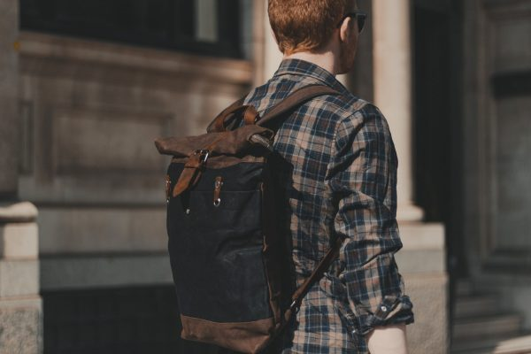 Oldfield Farnborough Graphite Waxed Canvas & Leather Backpack