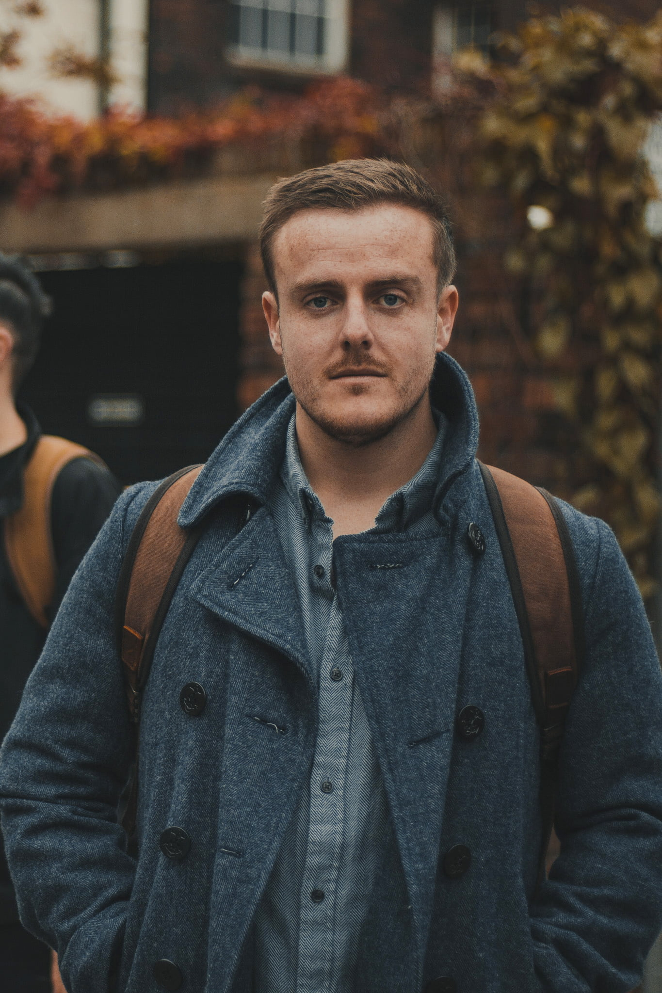 Waxed Cotton Canvas and Leather Backpack Rucksack - Menswear Denim Rugged Style Outfit - Waxed Canvas & Leather Backpacks by Oldfield - Jamie McIlhatton Wylde Coffee Liverpool Heswall