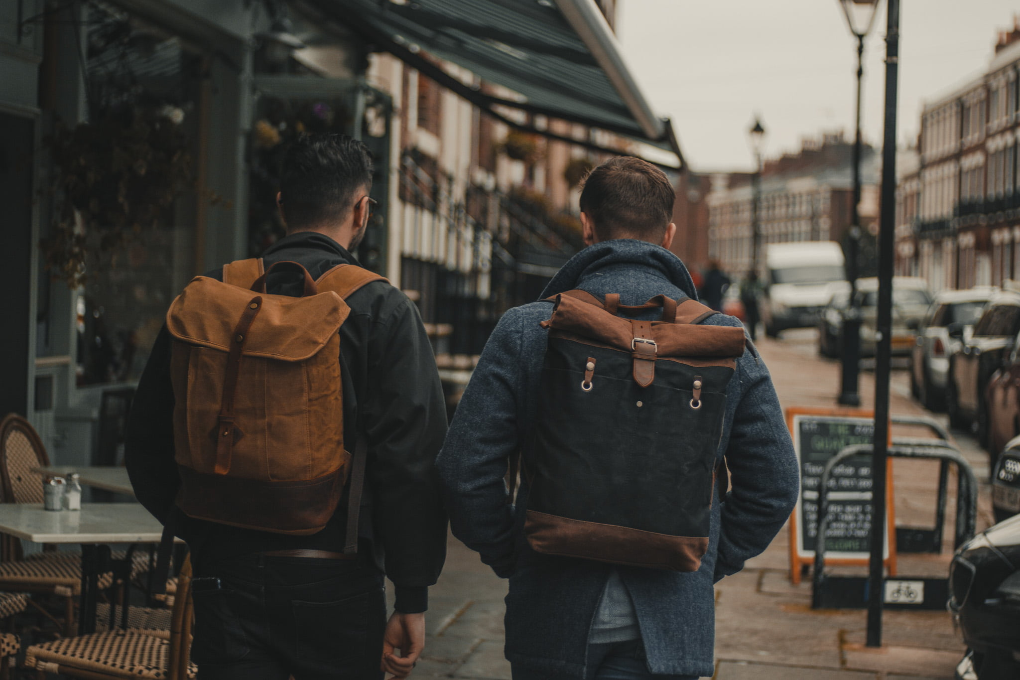 Waxed Cotton Canvas and Leather Backpack Rucksack - Menswear Denim Rugged Style Outfit - Waxed Canvas & Leather Backpacks by Oldfield - Wylde Coffee Liverpool Heswall