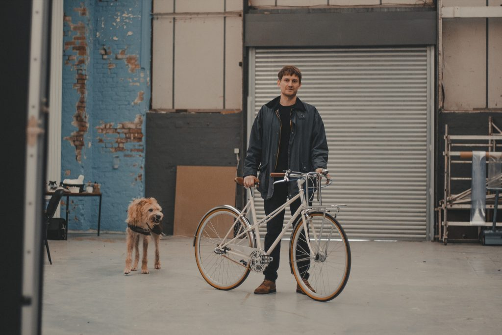 Cotton Canvas and Man Made Vegan Leather Weekender Bag - Cycling Style City Commuter Holdall - Waxed Canvas & Leather Bags Backpacks by Oldfield - Bicycle by Ten Street Cycles Liverpool