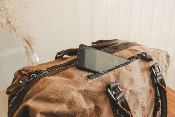 Waxed Cotton Canvas & Leather Weekender Bag - Menswear Denim Rugged Style Flatlay - The Ashdown by Oldfield